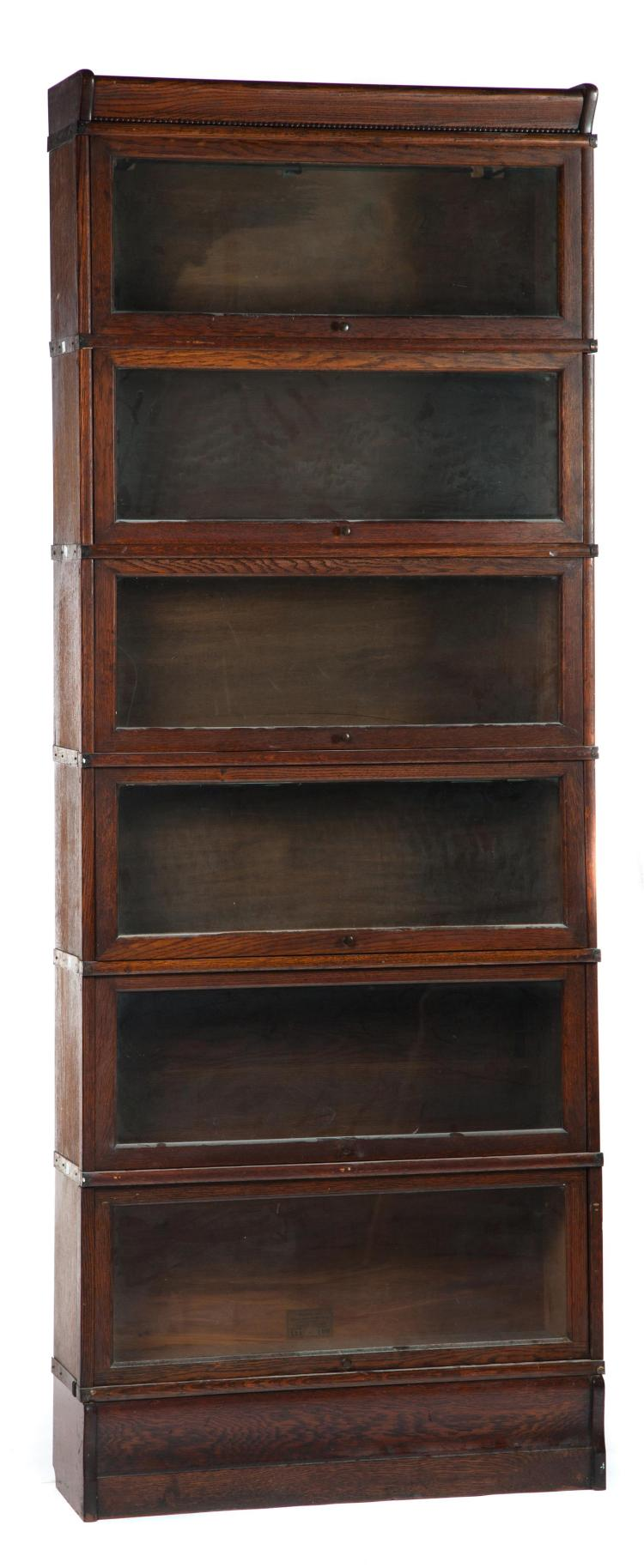 SIX-SECTION STACKING BOOKCASE.