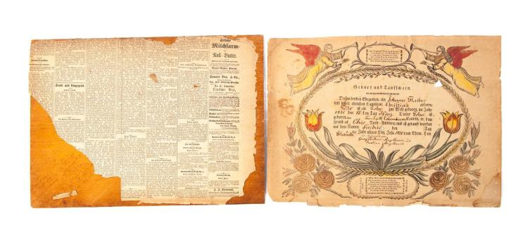 COLUMBIANA COUNTY, OHIO 1821 PRINTED FRAKTUR.