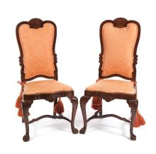 PAIR OF CHIPPENDALE-STYLE SIDE CHAIRS.