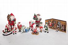 SANTAS WORKSHOP AND ASSORTED FIGURES.
