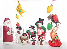 TEN ASSORTED CHRISTMAS CHARACTERS.