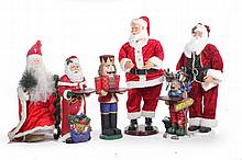 SIX CHRISTMAS DECORATIVE ITEMS.
