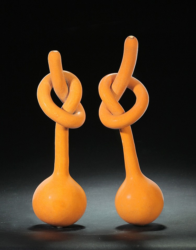 PAIR OF GOURDS.