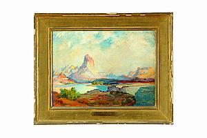 ON THE GREEN RIVER - COLORADO BY VERNON ELLIS (AMERICAN, 1885-1944).
