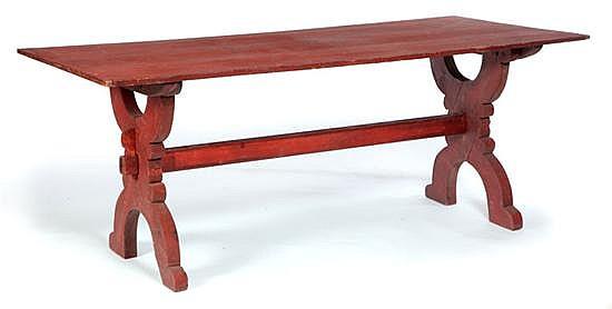 SAWBUCK TRESTLE TABLE.