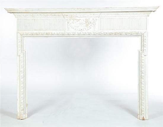 FEDERAL-STYLE CARVED MANTLE.