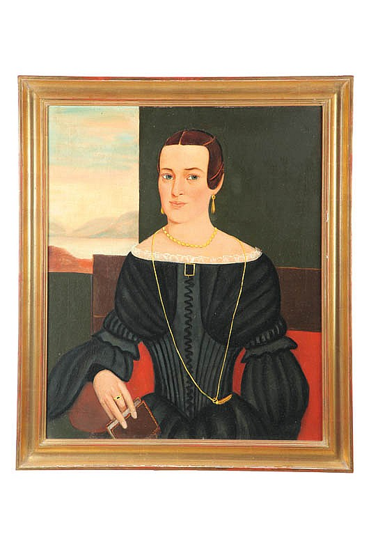 PORTRAIT OF A SEATED WOMAN (AMERICAN, MID 19TH CENTURY)