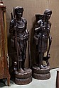 PAIR OF WOOD STATUES.