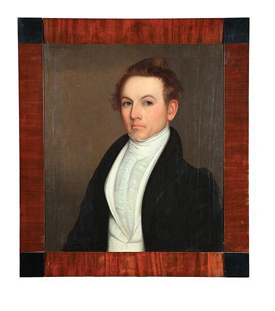 PORTRAIT OF J.J. VAN RENSALAER BY RANDALL PALMER (NEW YORK, D. 1845).