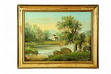 TWO LANDSCAPE PAINTINGS (AMERICAN SCHOOL, 19TH CENTURY).