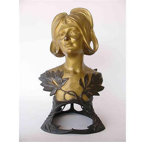 LEOPOLD P. SAVINE (b.1861): A gilded bronze bust