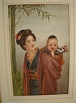 TSUTAYA RYUKO 1868-1933: Japanese lady carrying