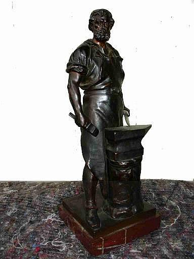 WILHELM ALBERMANN (1835-1913 German) A bronze of a