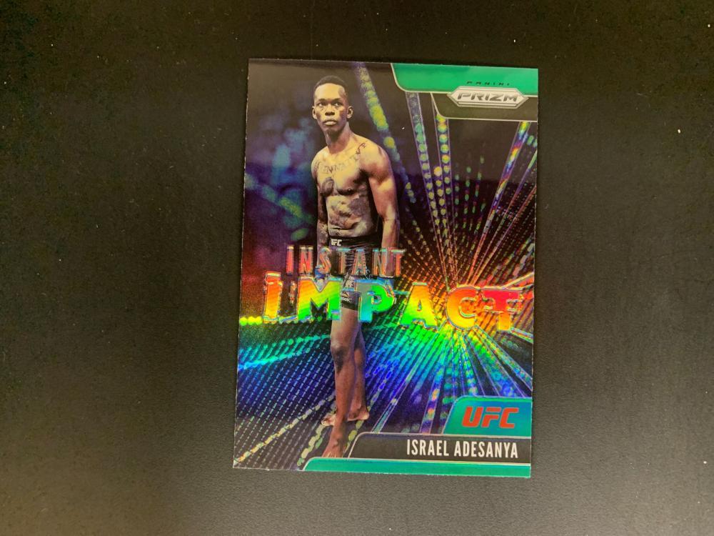 2021 Prizm UFC Israel Adesanya Instant Impact