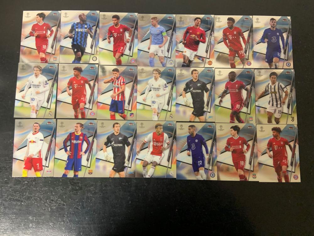 2021 Topps Finest Champions League lot