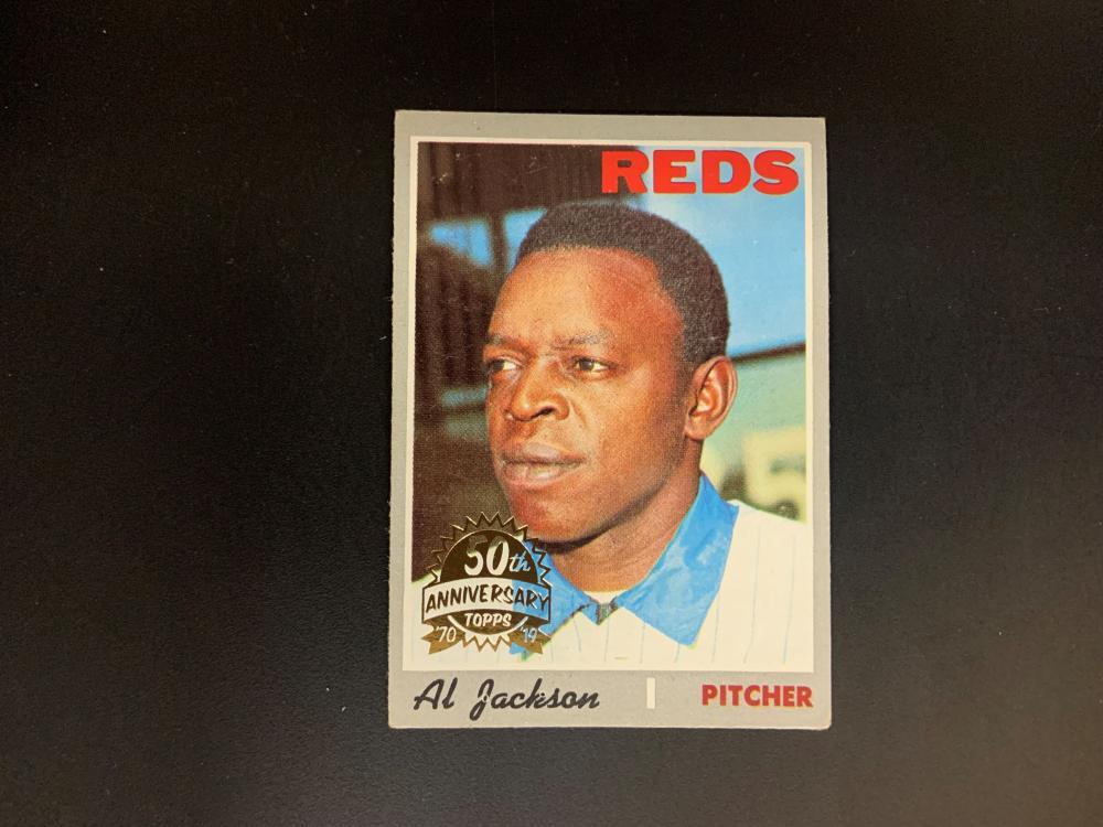 1970 Topps 50th Anniversary Gold Stamp Al Jackson