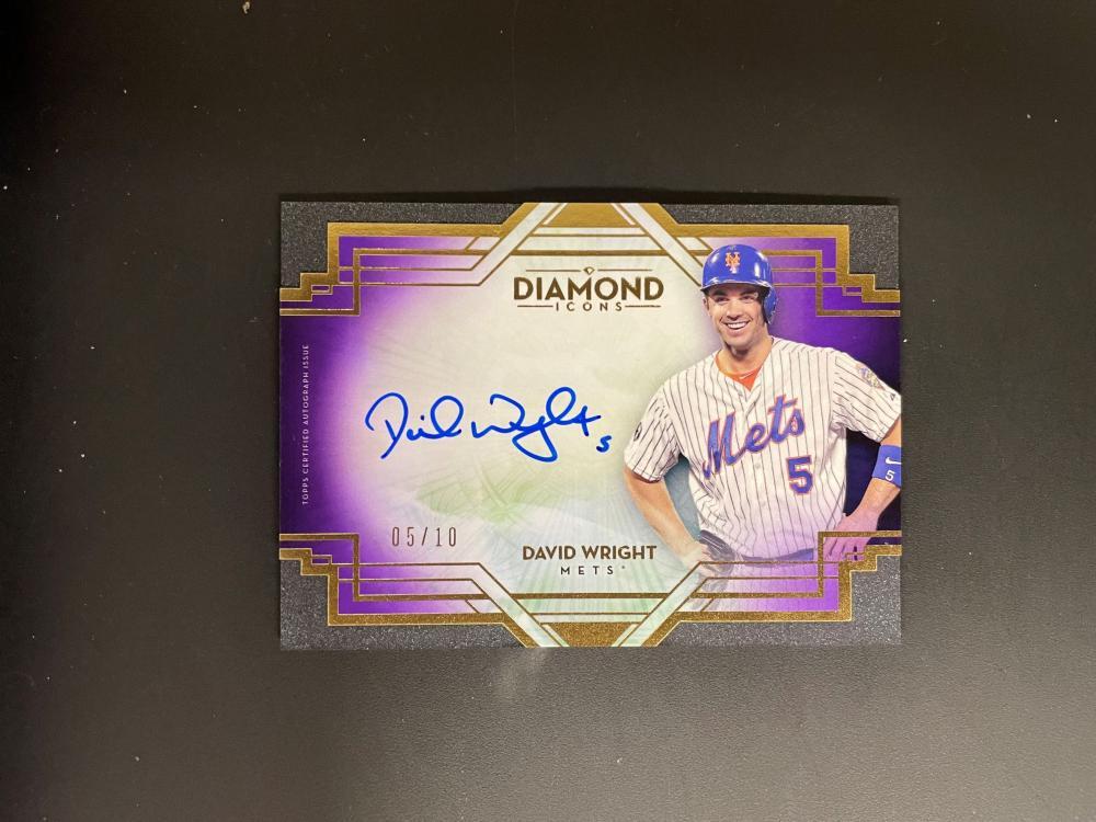 2021 Topps Diamond David Wright Autograph - 5/10