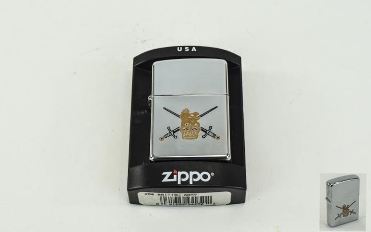 Zippo- Windproof Chrome Lighter With British Army