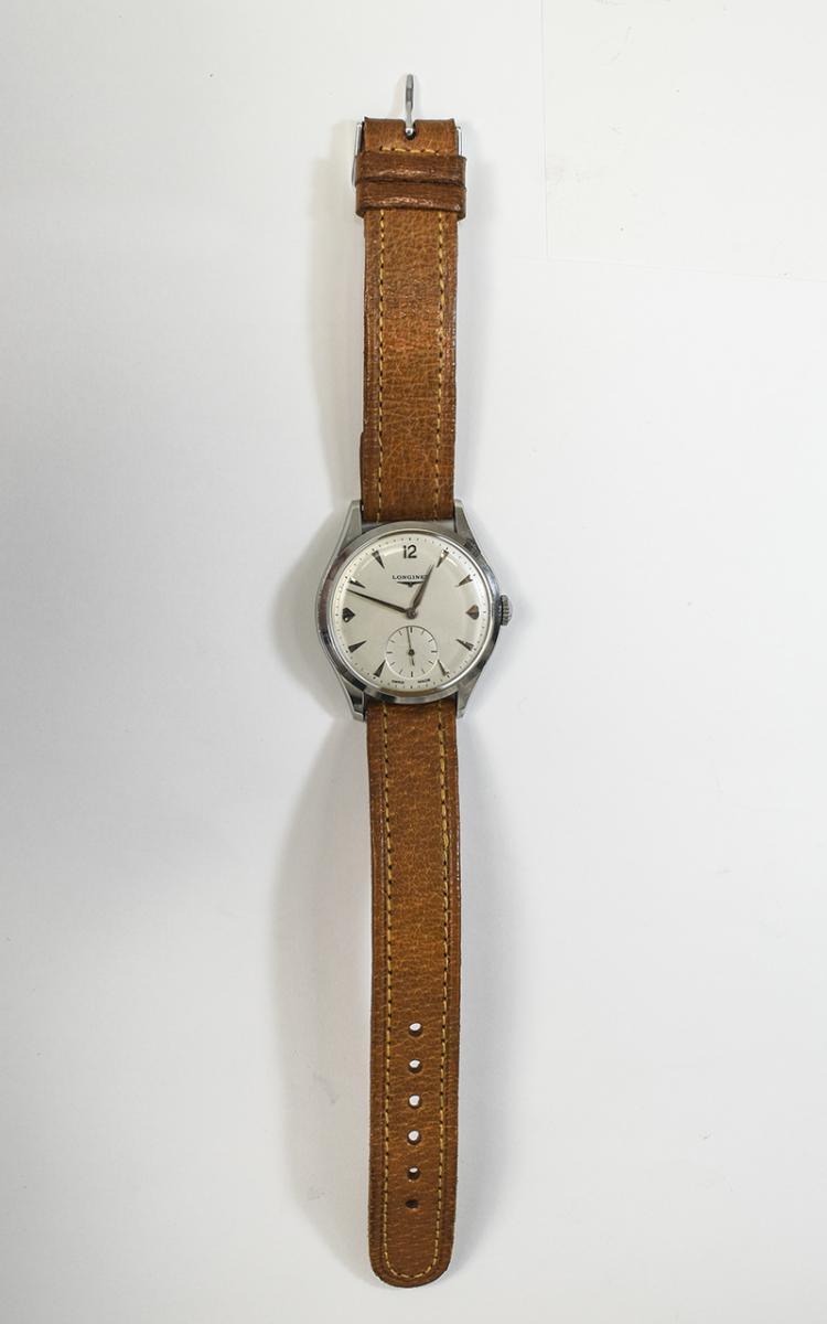 Gents Longines Wristwatch Silvered Dial With Baton