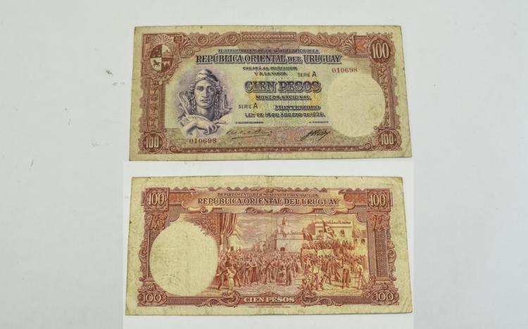 Republica Oriental Del Uruguay Bank Note 100 pesos