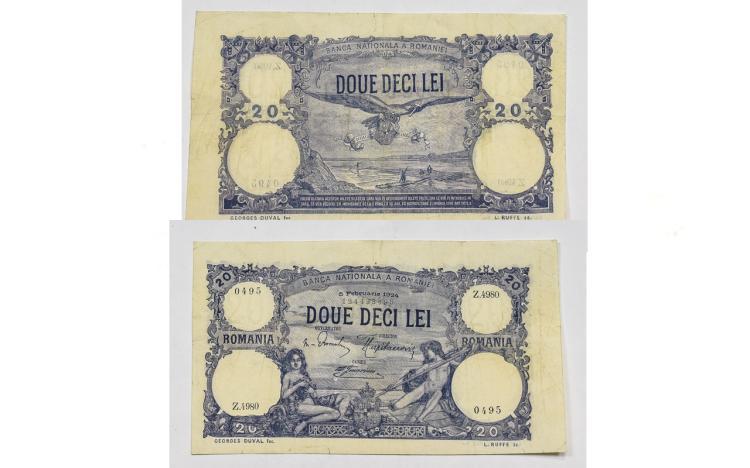 Romania 20 Lei 1924 Bank Note In E.F Condition, Z4