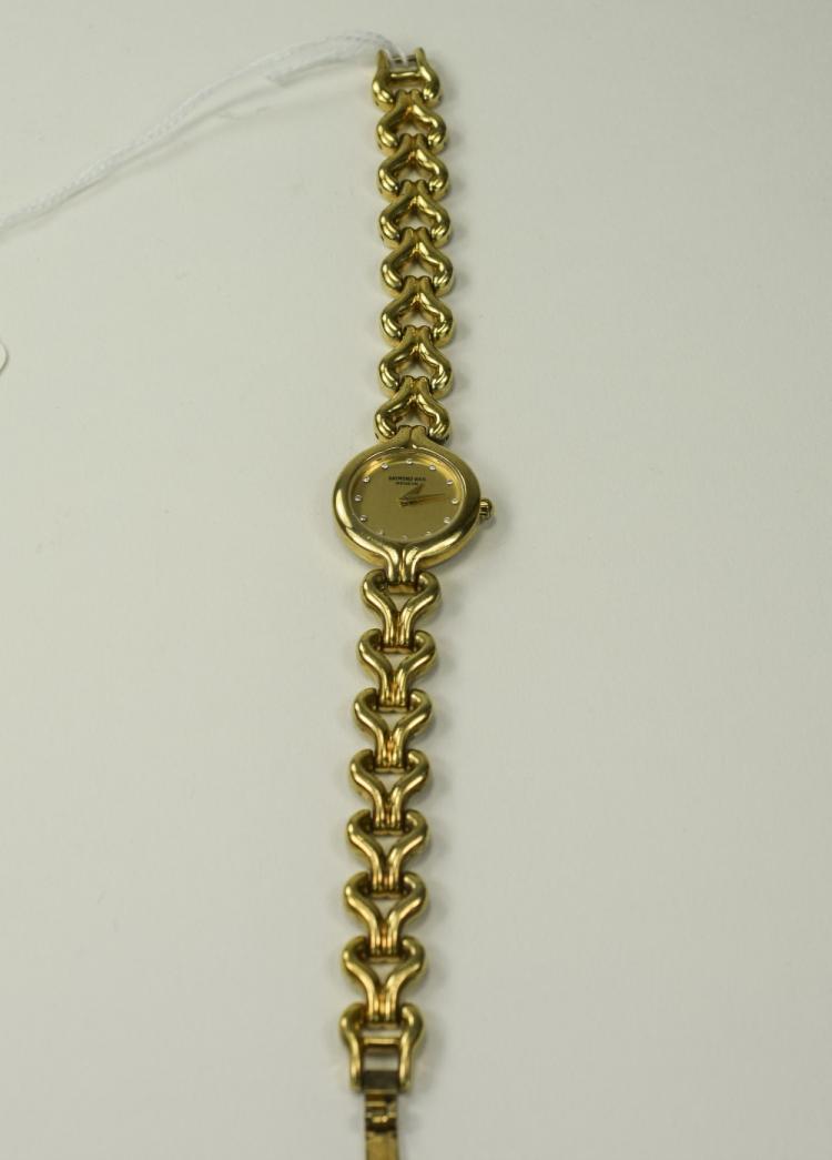 Raymond Weil Ladies Gold Plated Wrist Watch, Set w