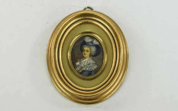 A 19th Century- Nice Quality Miniature Portrait Pa