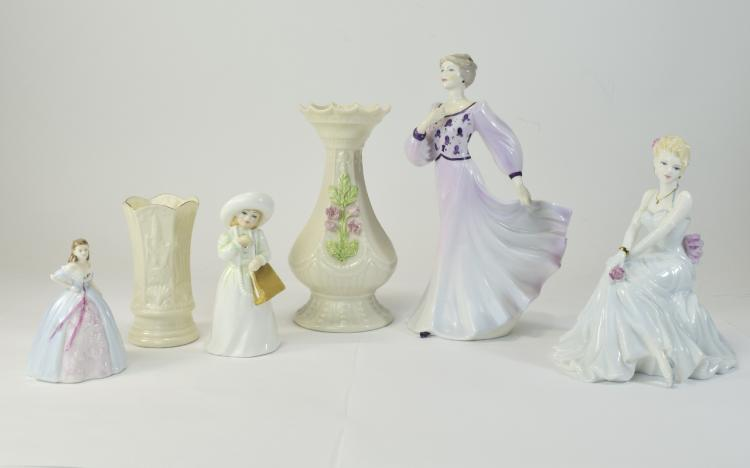 Collection of Pottery Comprising 3 Coalport Figure