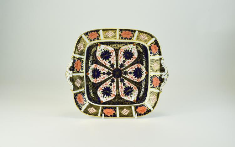Royal Crown Derby Two Handled Imari Patterned Cabi