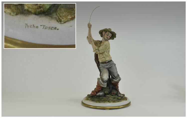 Capo-Di-Monte - Signed and Early Figure ' Fisherma