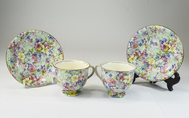 Royal Winton Pair of Chintz Pattern Cup and Saucer
