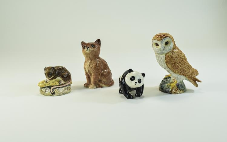 Beswick Assorted Animal and Bird Figures ( 4 ) Fig