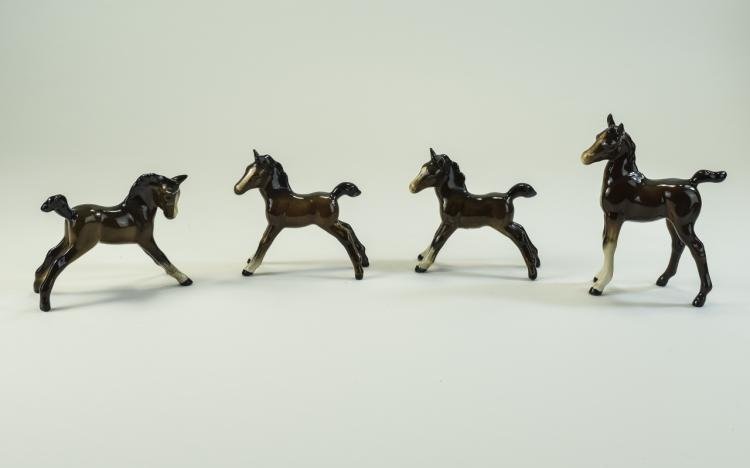 Beswick Horse Figures ( 4 ) In Total ' Foals ' All