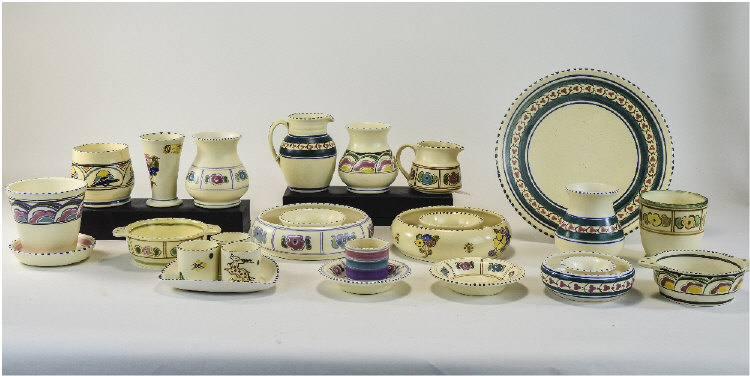 Collection Of Mostly Honiton Pottery, 25 Pieces Co