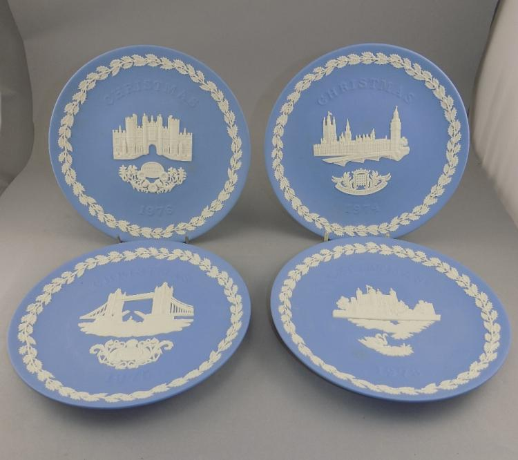 Collection of Four Wedgwood Jasper Christmas Plate