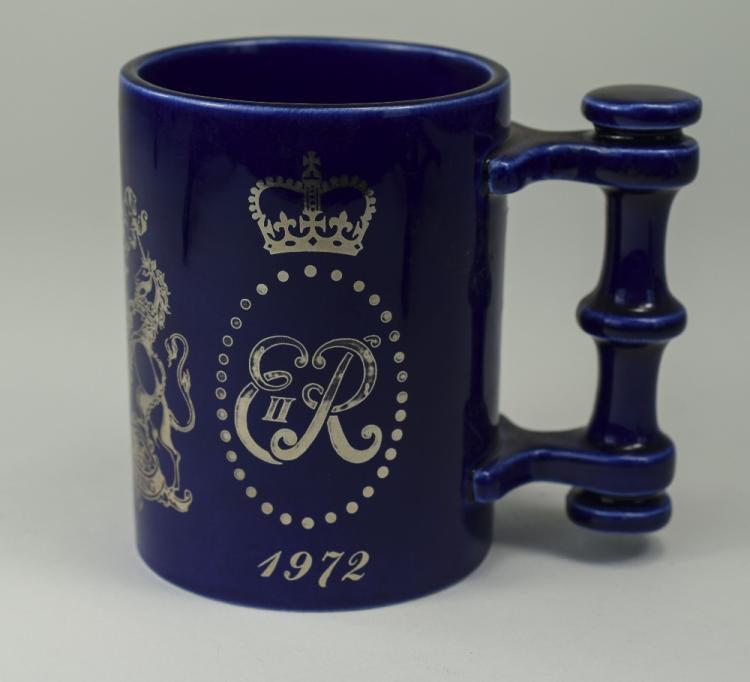 Portmeirion Pottery, Cobalt Blue Tankard E11R 1972