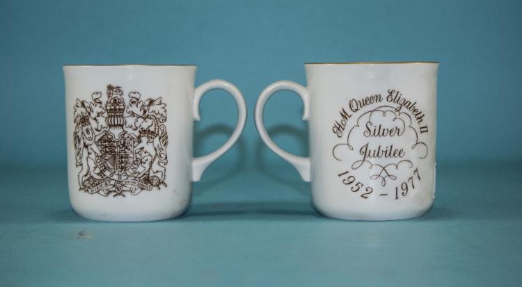 Royal Worcester Pair of 'Queen Elizabeth II Silver