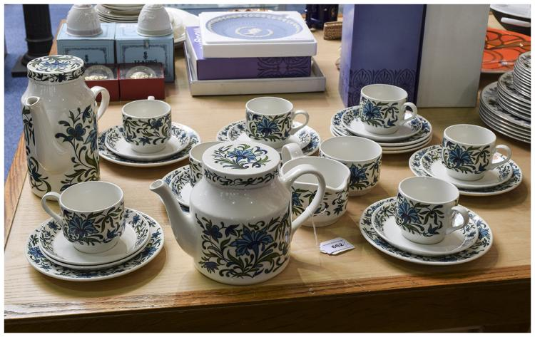 Staffordshire ''Midwinter'' Part Coffee Set. Compr