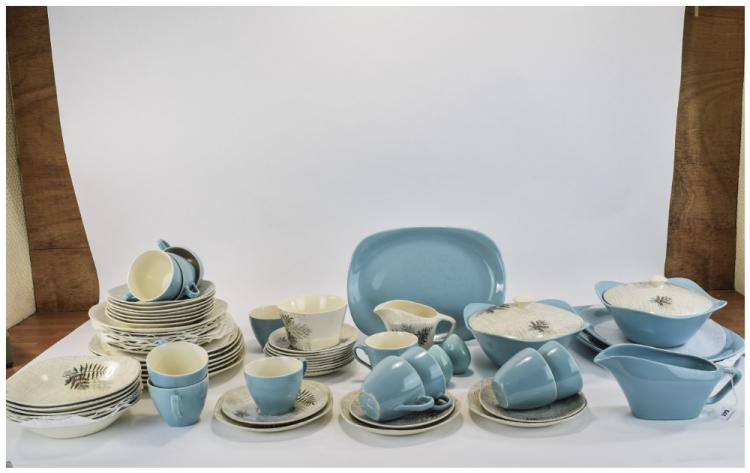 Meakin Rock Fern Retro Tea and Dinner Set. Approx