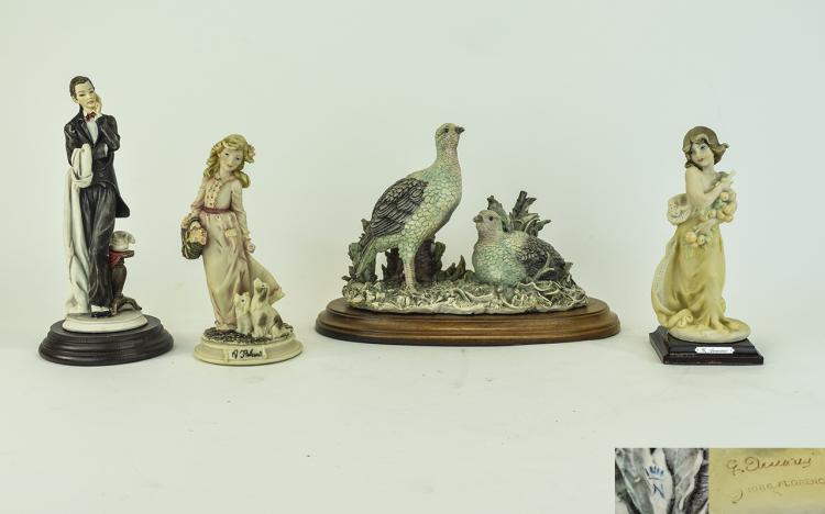 Capodimonte Figures ( 4 ) In Total. All Signed by