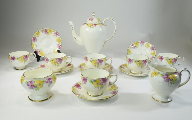 Paragon Fine China Tea Set.  Comprising tea pot, s