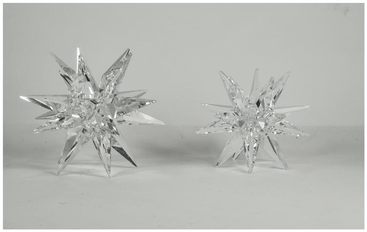 Swarovski Pair of Star Candle Holders