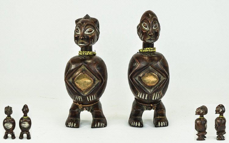 African Tribal Art Male And Female figures Possibl