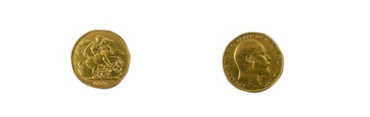 Edward VII 22ct Gold Full Sovereign. Date 1940, Pe