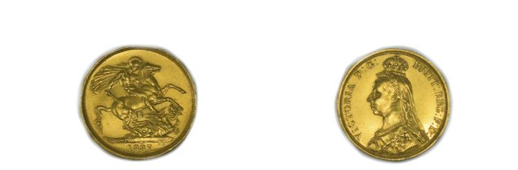 Victoria 22ct Gold Two Pound Piece ( Double Sovere