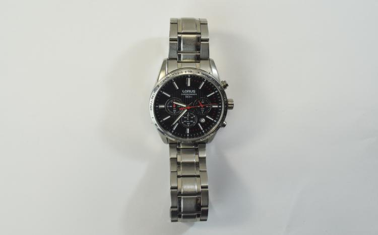 Lorus Gents Stainless Steel Chronograph Wrist Watc
