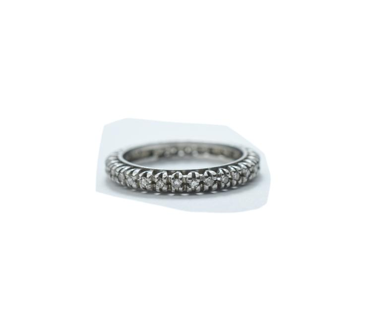 Ladies White Gold Full Eternity Diamond Ring; Set