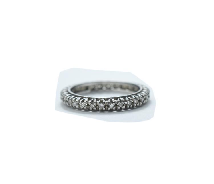 Ladies White Gold Full Eternity Diamond Ring; Set
