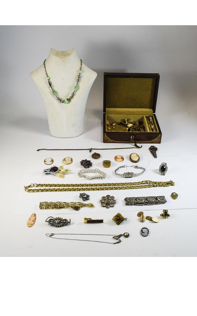 Collection Of Costume Jewellery Comprising Bracele