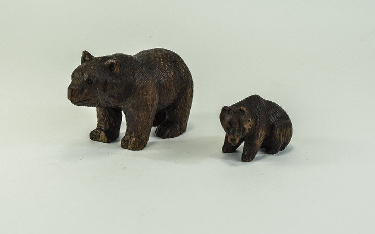 A Black Forest Mother Bear and Bear Cub. 5.3/4 and